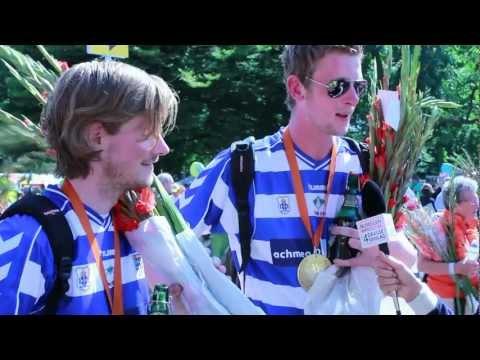 Intocht 96e Vierdaagse op de Via Gladiola - NijmegenWandelt 2012