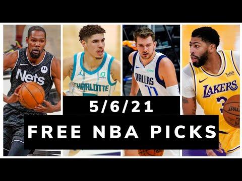 Free NBA Picks Today (Thu May 6, 2021) NBA Betting Picks, Vegas Odds, News and NBA DFS Plays