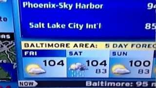 TWC Weatherscan:  Extreme Heat on 6-29-12 (11:05 a.m.)