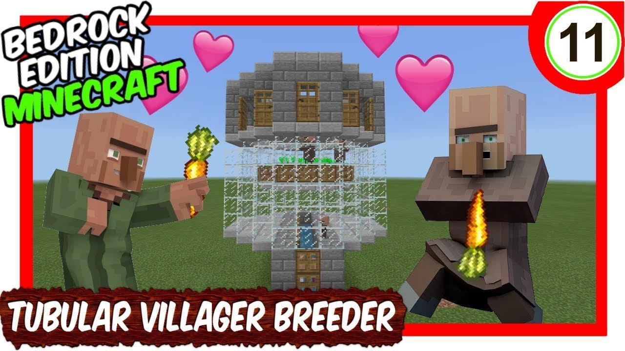Compact Villager Breeder Tutorial [Minecraft Bedrock Edition][MCPE]