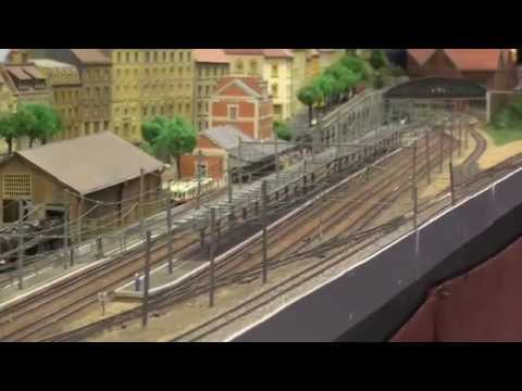 TGV Model railway of FFMF Federation Francaise de Modelisme Ferroviaire