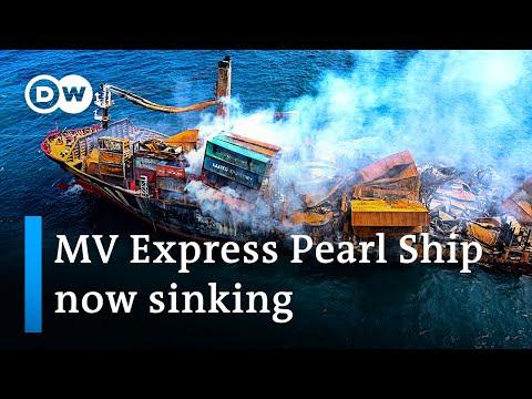 Sri Lanka's worst marine disaster? Chemicals cargo ship sinking | DW News