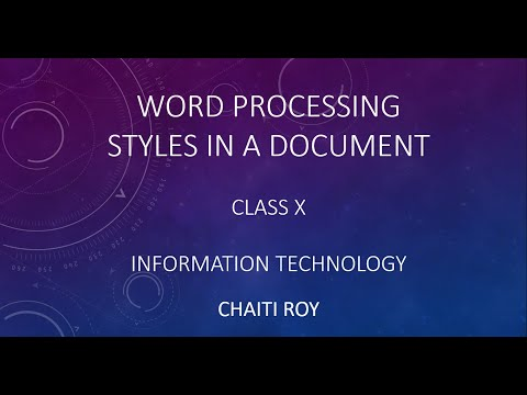 Styles In Document