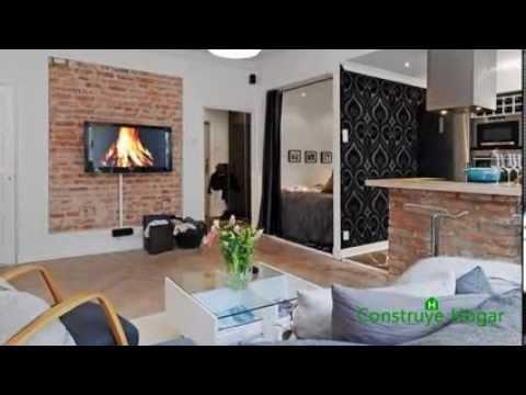 Dise o de peque o apartamento moderno de un dormitorio youtube - Apartamentos pequenos disenos ...