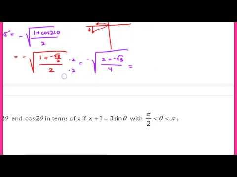 9.2 (Part 2) The Double-Angle Formulas