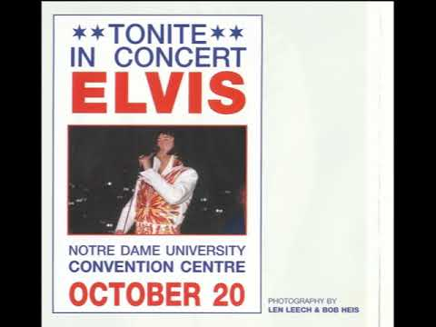 Elvis Presley - Notre Dame University South Bend, Indiana October 20, 1976