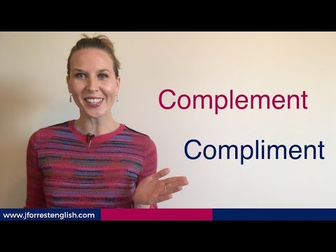 Complement or Compliment - What's the Difference Between Complement and Compliment