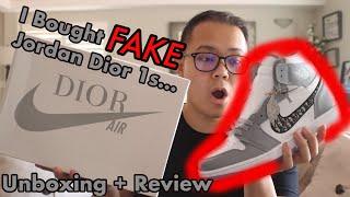 FIRST LOOK: Jordan Dior 1s (Replica Review)