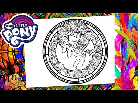 My Little Pony : Twilight Sparkle with friends | Coloring pages for kids | Coloring book |