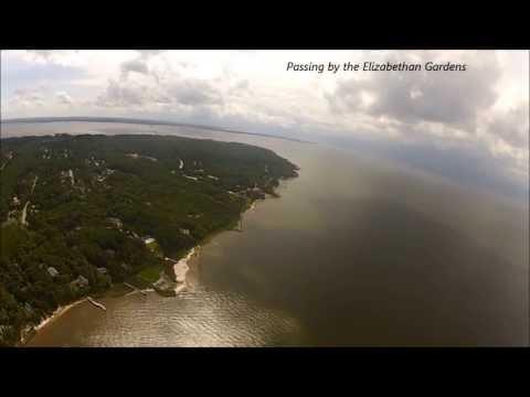 Garry, Allison and Jillian on a Roanoke Island tour with Coastal Helicopters!