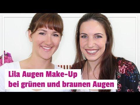 Lila Augen Make-Up bei grünen und braunen Augen ? Video
