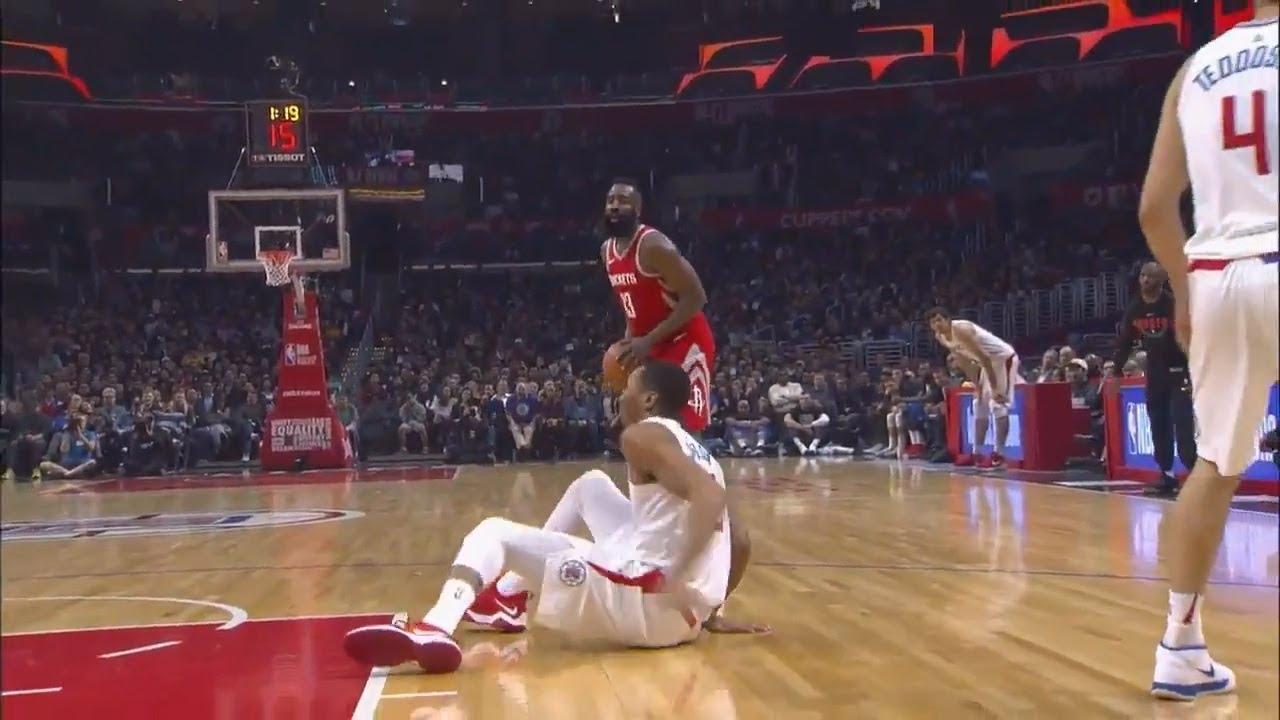 b7df8e4ac35e James Harden Makes Wesley Johnson Fall Over Than Drains Three! Rockets vs  Clippers!