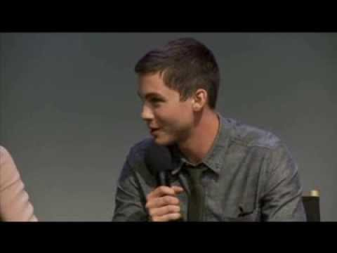 Logan Lerman and Alexandra Daddario interview at The Apple Soho Store (Part ...