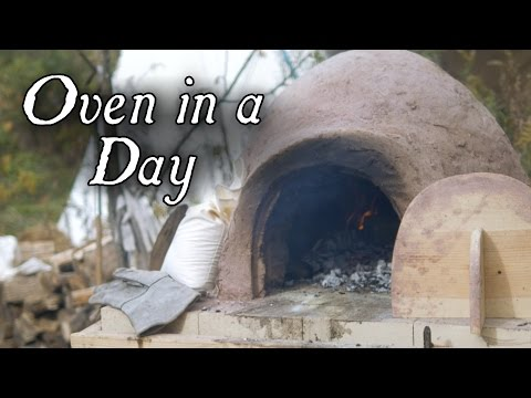 How to build an Earthen Oven and Use it the Same Day!