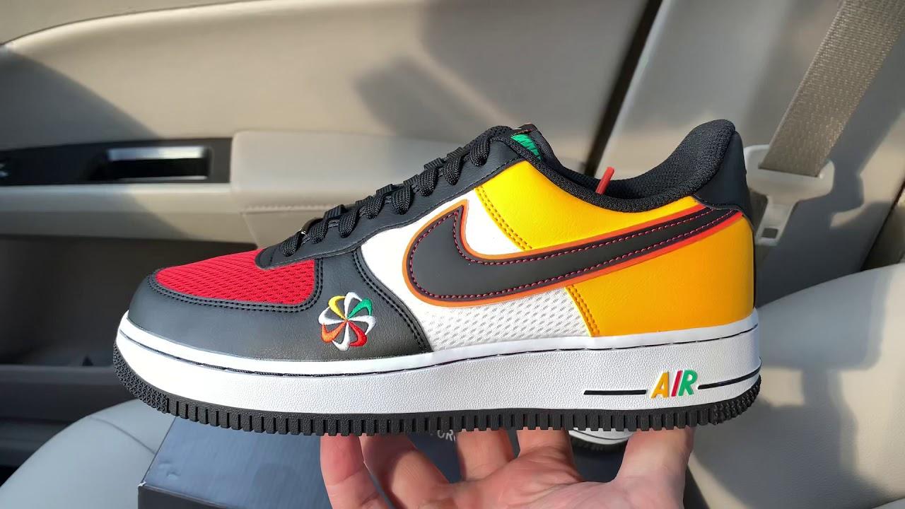 Nike Air Force 1 Sunburst shoes - YouTube
