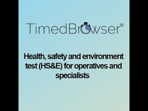 Health, safety and environment test HS&E for operatives and specialists Part 1