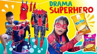 Drama Superhero Gagal Beraksi Gara-Gara Kostum Dijemur | Akhirnya Main Puzzle Tic Tac