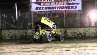 Kris Lacey Sprintcar Crash - Avalon Raceway 26/12/13