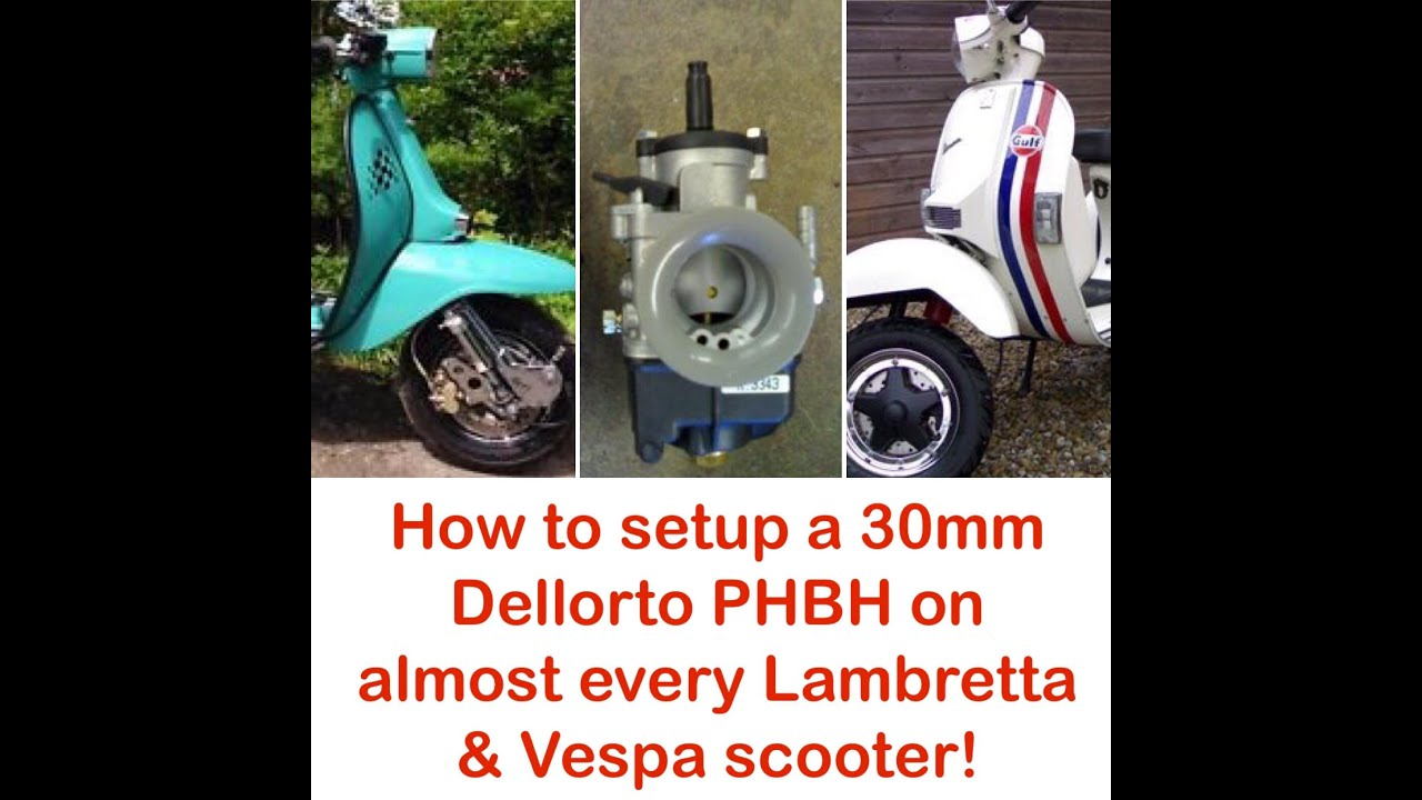 How to setup a Dellorto PHBH carburettor on almost every Lambretta & Vespa scooter!