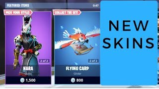 Fortnite New Nara And Taro Skins With Axe + Glider