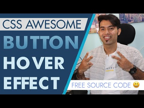 🔴 Create Awesome Button Hover Effect Animation using CSS  | Free Source Code | 2021