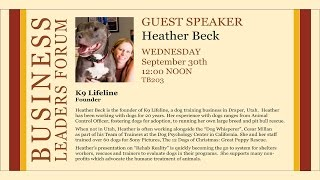 2015 Fall Business Lecture - Heather Beck