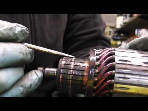 Bosch 110 series starter motor brushbox and bushing change.