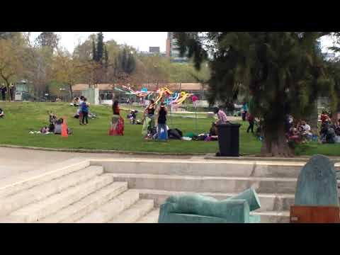 gypsy dancing in the Parque de las estatuas in Santiago