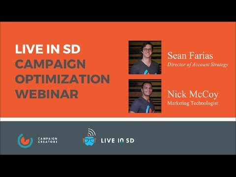 "Live In SD presents ""My Campaign Sucks, Now What?"" Webinar"