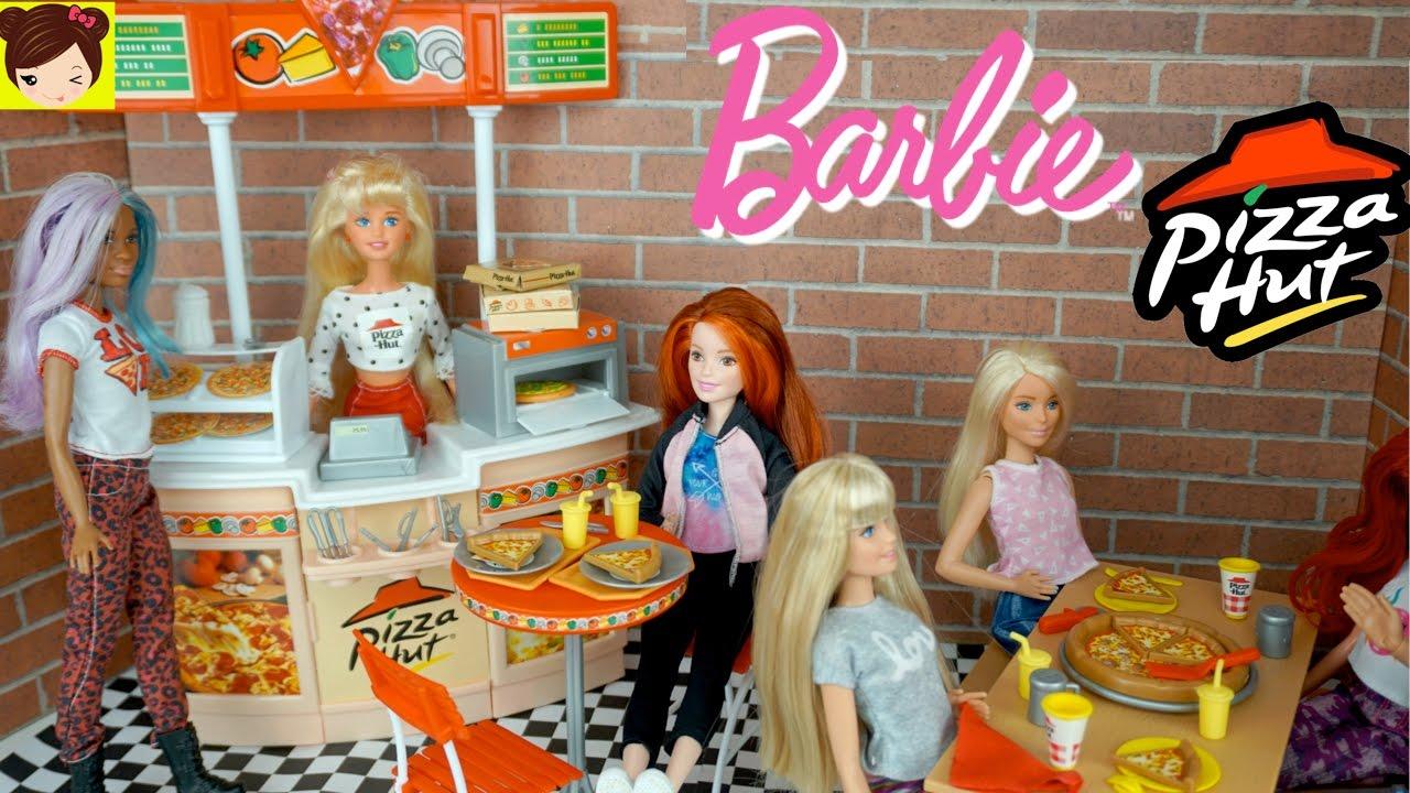 Barbie Restaurante De Pizza Hut Las Hijas De Elsa Y Anna Comen