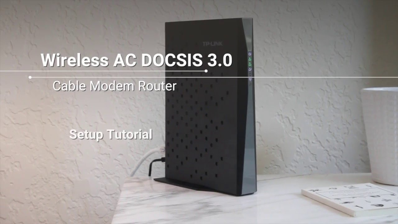 How To Set Up A Wireless Ac Docsis 30 Cable Modem Router Youtube Wiring Diagram Free Download