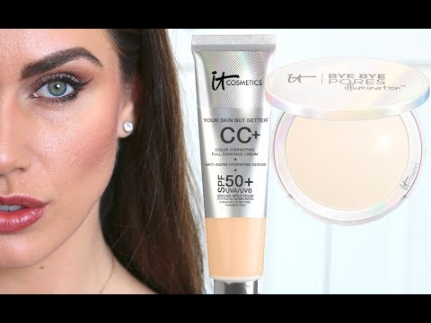 TESTED FOR 12 HOURS: It Cosmetics CC Cream SPF 50 & Bye Bye Pores Powder In Boston!