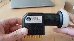 Preiswerter Quad-LNB für Sat-Anlagen DVB-S2 - Installationsbeispiel und Funktionstest