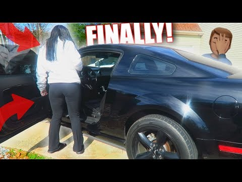I FINALLY LET HER DRIVE MY CAR... *mustang gt*