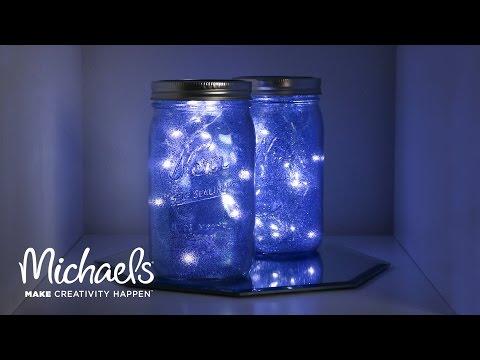 Galaxy Light Mason Jar Michaels Youtube