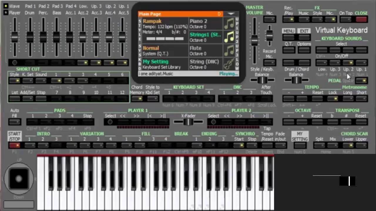 KORG PA4X Virtual Keyboard - Download Gratuito