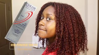 How I Dye My Hair Burgundy Red Ft. Ion Color Brilliance | Natural Hair Color Touch-Up Shanna Jarea