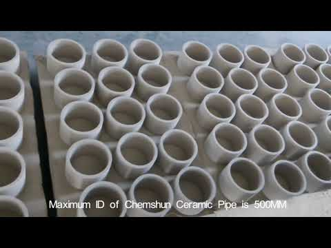 Alumina Ceramic Lining Elbow Pipe for Cement Industry