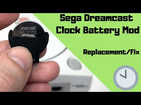 Sega Dreamcast Clock Battery Mod - Replacement/Fix