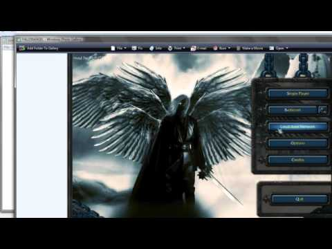 how to change background of warcraft III:frozen throne