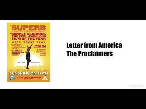 Letter from america |Sunshine On Leith| (Lyrics)