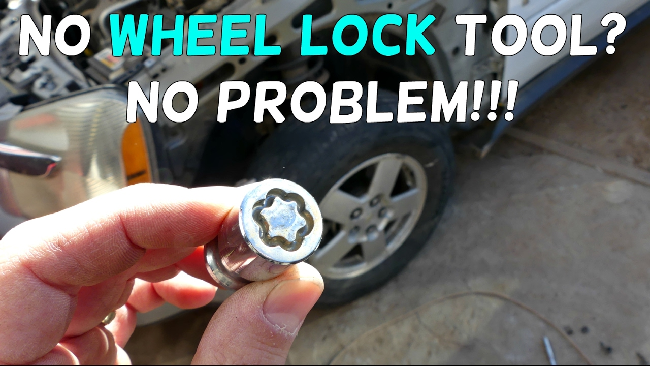 HOW TO REMOVE WHEEL LOCKS WITHOUT A KEY TOOL - YouTube