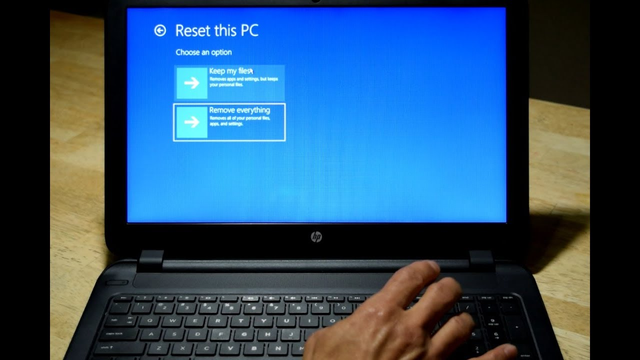 Restore Reset HP Notebook or Laptop To Factory Defaults Settings  All hp  models
