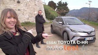 Voici le nouvel essai de la Toyota C-HR Hybride 2017. Les hybrides ont le vent en poupe, alors que vaut cette voiture ? Autotest vous donne un avis de la Toy...