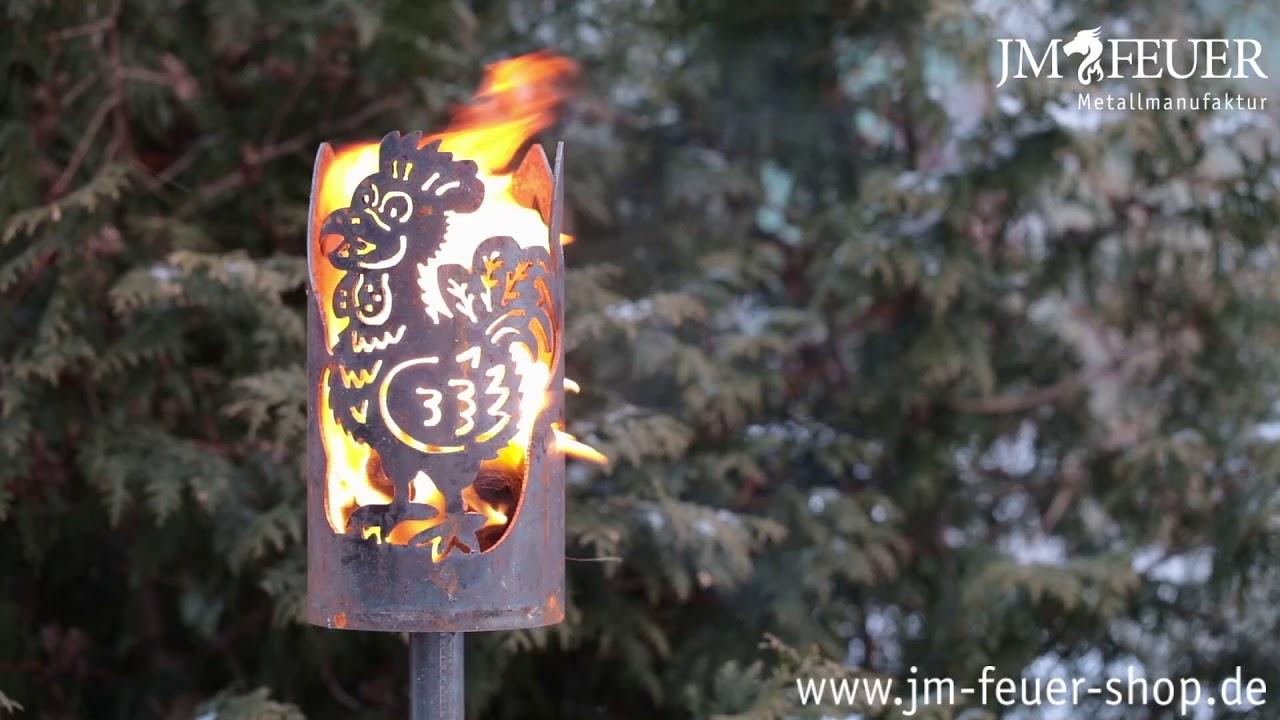 Jm Feuer Shop gartenfackel gockel aus meall