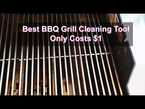 Best BBQ Grill Cleaning Tool Costs Only $1 + How To Clean Grill Grates Property
