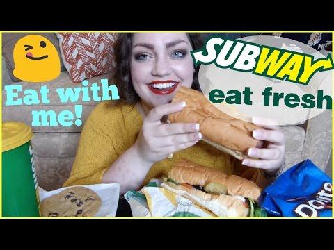 MUKBANG (Eating Show) | Subway