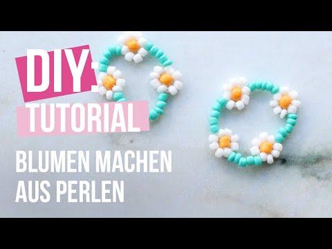 DIY Tutorial - Wie man eine Blume aus Perlen macht ♡ DIY