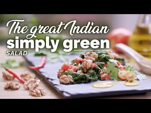 The Great Indian Simply Green Salad Recipe | Health Benefits | Yogic Organic Living