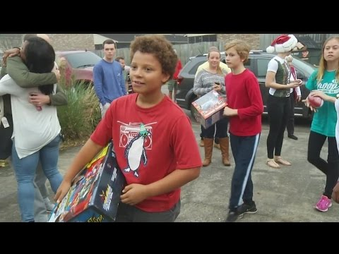 Toys for Tots Christmas Morning Delivery 2015